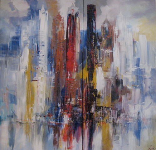 City Limits - Painting - Abstract Impressionism