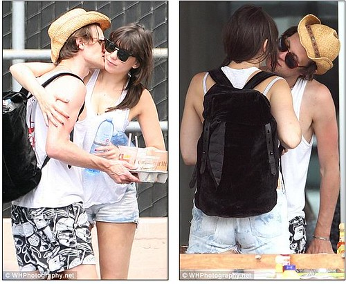 Matt Smith and Daisy Lowe take their never-ending PDA Stateside     3
