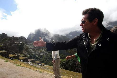 Jim Carrey en Machu Picchu
