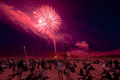 Canada Day (wvs) Tags: park people toronto ontario canada beach day fireworks crowd can celebration woodbine canadaday ashbrdigebay
