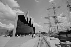 Glasgow Riverside Museum (Hugh Spicer / UIsdean Spicer) Tags: uk summer scotland riverclyde clyde glasgow yorkhill 2011 thetallship glasgowriversidemuseum