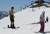Sun-Tanned Snow Skiing (Jimmy Jump) Tags: shirtless mountain snow ski shirt skiing crystal