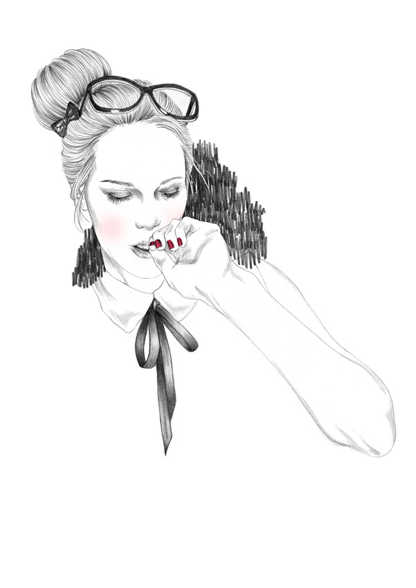 Black and White - Carole Wilmet Illustration via artpixie via carolewilmet.com