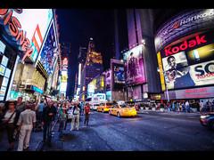 Full of life (Kaj Bjurman) Tags: life street new york people ny night dark square eos taxi 5d times cabs hdr kaj markii photomatix bjurman