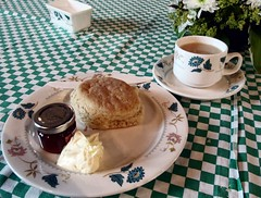 Cream tea - a taste of summer (janet7r) Tags: blog derbyshire cream scone jam chatsworth creamtea edensor