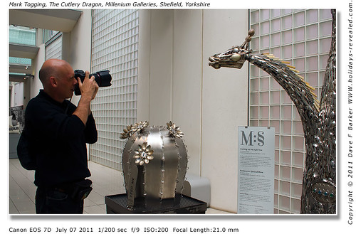 Mark.Togging The Cutlery Dragon Millennium Galleries Sheffield