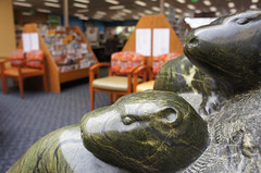 "Olympia Timberland Library. ""Otter Family."" 2012 (Timberland Regional Library) Tags: sculpture otterfamily tonyangel olympiatimberlandlibrary librarysnapshotday"