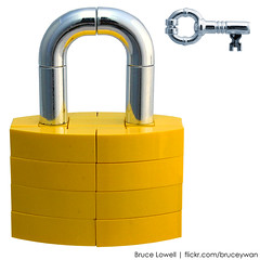 LEGO Lock and Key (bruceywan) Tags: sculpture key lego lock bruce photostream realism lowell moc brucelowellcom