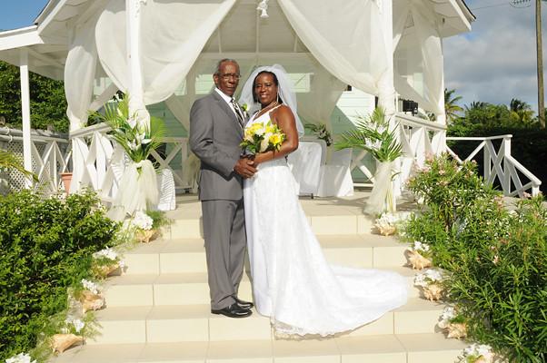 Palm Wedding Gazebo Backdrop