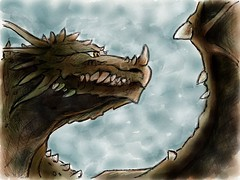 Dragon sketch in paper 53 app (WouterZArtZ - Dutch Designs!) Tags: art illustration design sketch dragon hand graphic cartoon fantasy ipad2 paperapp