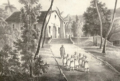 San Dionisio Church Etching