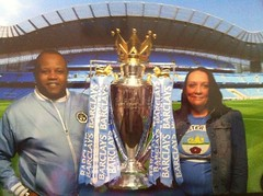 CHAMPIONS 2012 (vicki127.) Tags: manchestercity souvenirphoto citystore iphone4 mike926 michaelderby vickiburrows vicki127 championstrophy2012