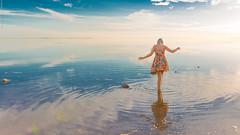 Paint Me a Picture (Matthew McCreadie (Australian)) Tags: blue girls sunset sun color cute beach water girl beautiful canon women colorful dress tight 2470mm