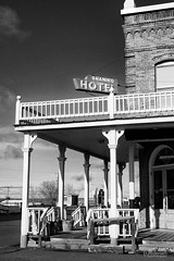 Shaniko Hotel bw (jpeder55) Tags: old oregon antique rusted ghosttown shaniko jpedersenphotography