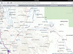 Oodnadatta to Simpson edge from EOTopo on ExploreOz web maps (spelio) Tags: travel map maps australia email tools cartography nsw use outback mapping comparison apps 2014 ipad comparisontestingcartographyselectionselect
