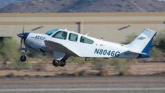 Airline Training Center Arizona Beech F33A Bonanza N8046G (ChrisK48) Tags: atca 1992 airlinetrainingcenterarizona beechf33a cnce1646 kdvt lufthansa n8046g phoenixdeervalleyairport phoenixaz beechcraft aircraft airplane dvt 33