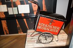 Nazi newspaper wagon (quinet) Tags: 2013 allemagne deutschland germany hakenkreuz munichstatemuseum mnchen nsdap rassismus stadtmuseummunich nazi racism racisme svastika swastika munich bavaria
