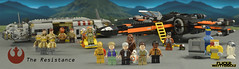 The Resistance (Panoramic) (WattyBricks) Tags: lego star wars episode vii the force awakens han solo princess general leia rey bb8 finn poe dameron droids c3po r2d2 artoo threepio admiral ackbar resistance panoramic