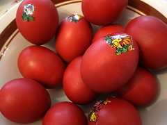 Happy belated Easter ! () Tags: sf sanfrancisco california ca city red easter downtown thecity eggs foodie sfist  saofrancisco paintedeggs  belatedeaster a happybelatedeaster