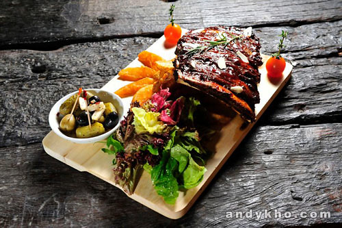 014 Brontosaurus Beef Ribs with Wedges RM78