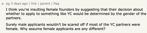 I think you're insulting female founders
