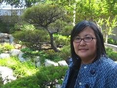 naomi hirahara in garden