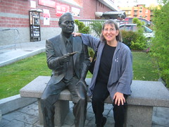 me with chiune sugihara statue in little tokyo
