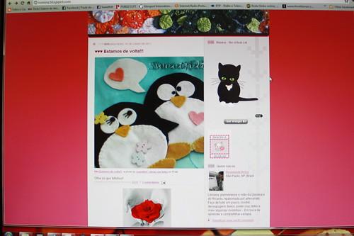 Os meus pinguins no blog da Rosangela de S. Paulo!! Obrigada Rosangela!! Adoreiiiiiiii.... by sweetfelt \ ideias em feltro