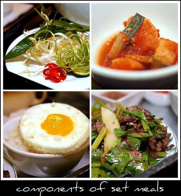 set meals collage
