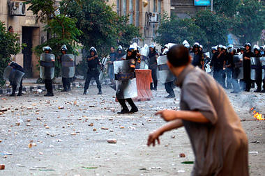 Egyptian clash with security forces in Cairo on June 29, 2011. Youth are demanding justice for those wrongfully killed and imprisoned by the military regime. Despite a change of government, the regime is still a client of US imperialism. by Pan-African News Wire File Photos