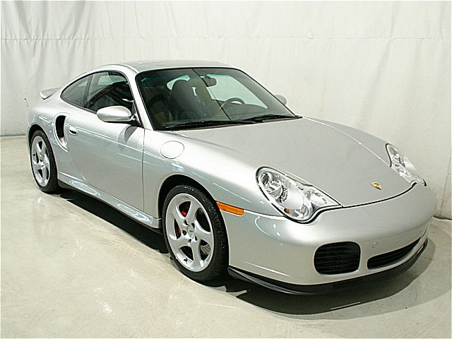 2001 Porsche 911 Turbo Coupe Arctic Silver Black Full