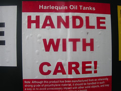 Oil tank warning sticker! (joe_relic37) Tags: home digital warning canon sticker tank label powershot plastic oil heating advisory compact kerosene aa1200