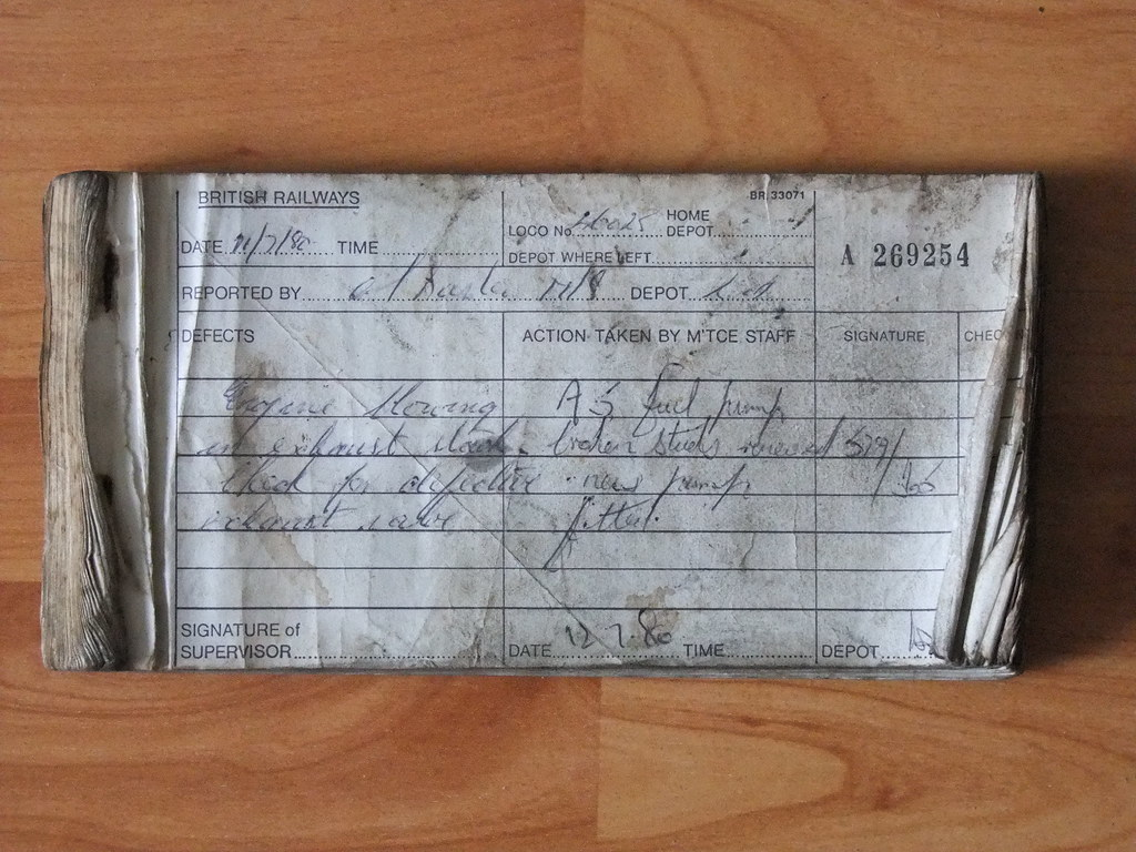 46025 (D162) Repair Book 1980