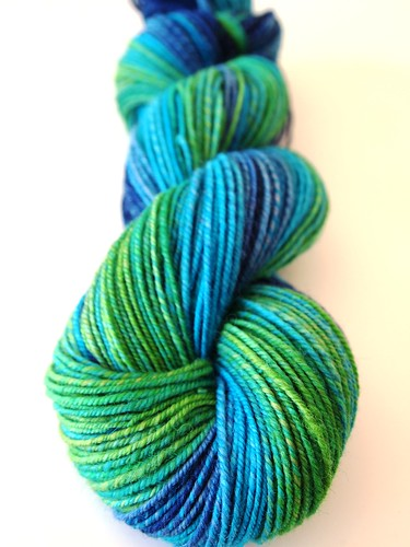 TdF 1.skein-Falkland-Peacock-chain plied-268yds