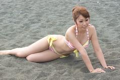 01951 (cosfit) Tags: ocean sea portrait people woman cute sexy beach girl beautiful beauty fashion japan lady asian japanese model asia pretty bikini swimsuit bathingsuit swimwear 20110703nisgp