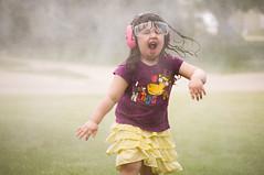 (F.O.T) Tags: 3 love wet girl face happy glasses outdoor skirt nerds sprinkler ear pressure protection washer espression saftey garaffe