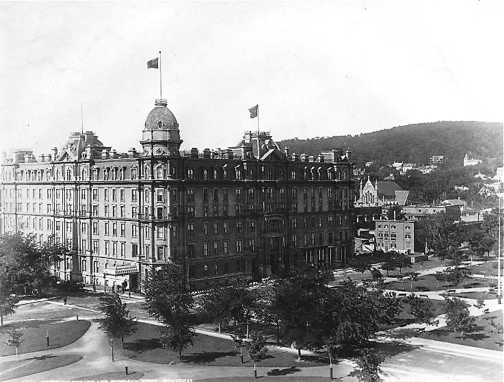 Dominion Square and Windsor Hotel, Montreal, QC, about 1890 by Montreal Photo Daily, on Flickr