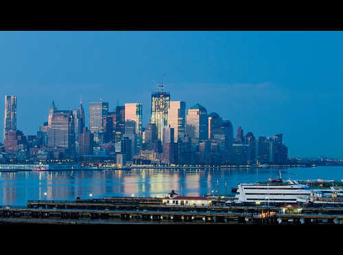 Blue Hour Rebuilding: July 2011 World Trade Center Site Update