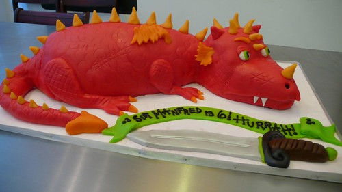 3D dragon birthday cake by CAKE Amsterdam - Cakes by ZOBOT