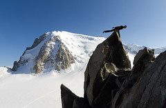 Planking in the Alps (V) Tags: france alps glacier planking tacul cosmiques montblank