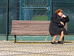 """""""The World is Too Much with Us"""" (Canadapt) Tags: woman portugal bench nap sleep lisbon snooze tenniscourts pvoadesantoadrio canadapt"""
