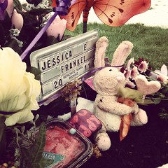 - (chartothelatte) Tags: birthday friends love grave friend missing rip cleveland cemetary danielle memory jess iphone instagram