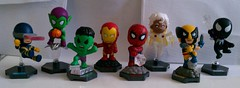 Marvel Grab Zags: Complete Figure Set (xClaribelx) Tags: storm toys spiderman ironman cyclops marvel figures wolverine greengoblin thehulk spidermanblack grabzags