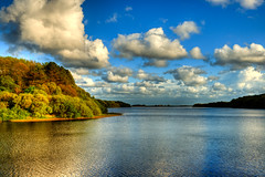 332 - Lower Rivington Reservoir (Gary Forrest) Tags: blue sky water clouds photo nikon file reservoir rivington upper single lower f28 hdr embankment horwich d800 2470 tonemap