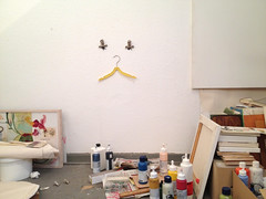 meow (virginhoney) Tags: colors face animal wall cat studio paint hanger atelier