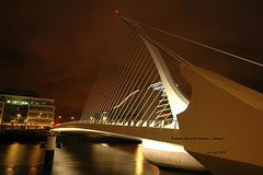 Samuel Beckett Bridge over Liffey River - Dublin (..Just V...) Tags: bridge dublin liffey calatrava beckett