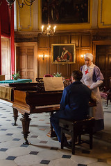 Nurse and patient (Genuine dabber) Tags: england home hospital actors europe cheshire unitedkingdom piano patient nurse ww1 dunhammassey stately altrincham