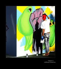 (Campeuro) Tags: boy man verde green graffiti mural paint grafitti arte grafiti graffitti pintor pintura artista