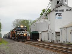 NS_Pettisville-OH_19A_9891_051514-1 (C Telles) Tags: railroad ohio chicago train elevator norfolk grain line southern locomotive ge 19a c40 9w pettisville ns9891