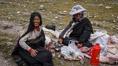 Тибетцы на Коре вокруг горы Кайлас в Тибете